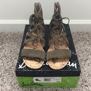 Green Suede Sandals